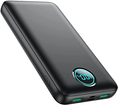 iPosible Batería Externa 30800mAh 25W PD + QC 4.0 Power Bank Carga Rapida USB C Bateria Portatil...