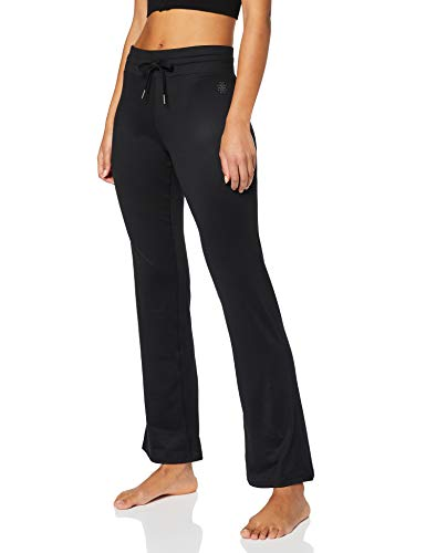 Marca Amazon - AURIQUE Pantalón de Yoga Mujer, Negro (Black), 34, Label:XXS