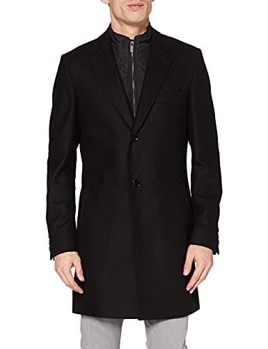 HUGO Milogan2041 Abrigo de Vestir, Negro (1), 46 para Hombre