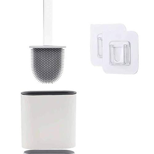 Escobilla WC, Escobillas WC de Baño de Silicona con Soporte de Secado Rápido, Inodoro para Baño...
