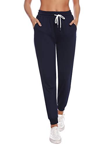 Sykooria Pantalones Deportivos Casuales para Mujer, Pantalones de Jogger de Cintura con cordón de...