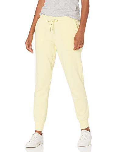 Amazon Essentials French Terry Fleece Jogger Sweatpant Pantalones Deportivos, Amarillo Claro, M