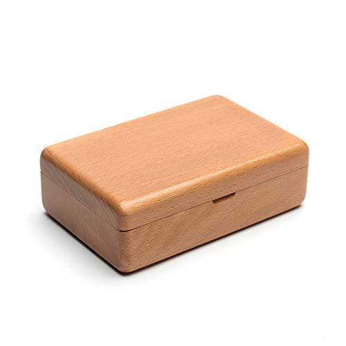 Shiwaki 4.7'x3.1 x1.6 Caja de Almacenamiento de joyería Peque?a de Madera Maciza de Haya Negra...