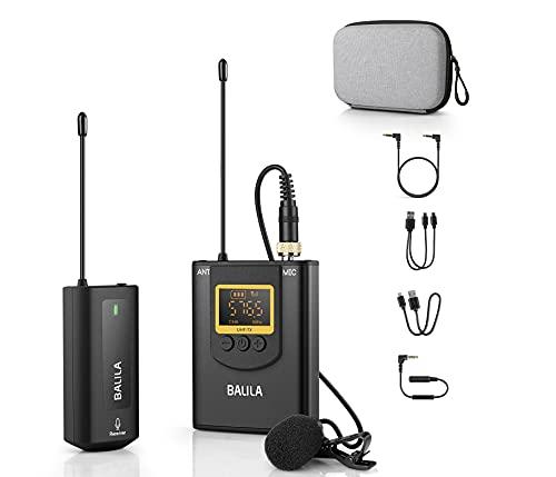 Microfono Inalambrico Profesional para Móvil,Cámara- UHF Sistema de Micrófono de Solapa...