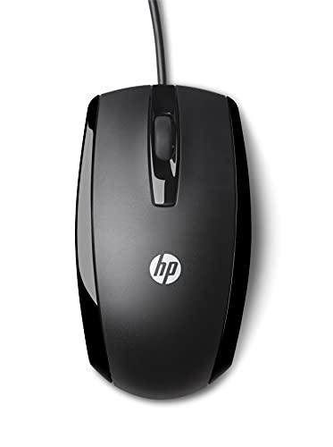 HP X500 - Ratón con cable (3 botones, óptico, USB), negro