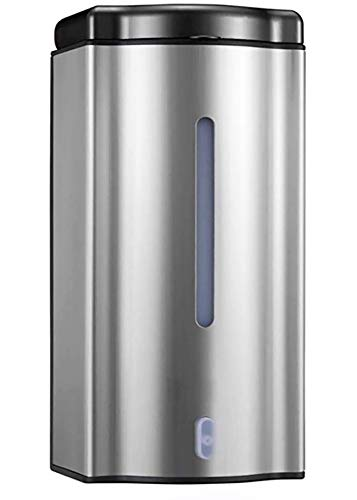 MASMAS Dispensador de Jabón Automático de Pared Manos Libre con Sensor Infrarojo de Acero...