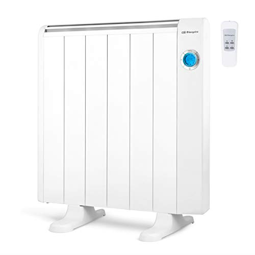 Orbegozo RRE 1010 A Emisor Térmico Bajo Consumo, 6 Elementos de Calor, Pantalla Digital LCD, Mando...