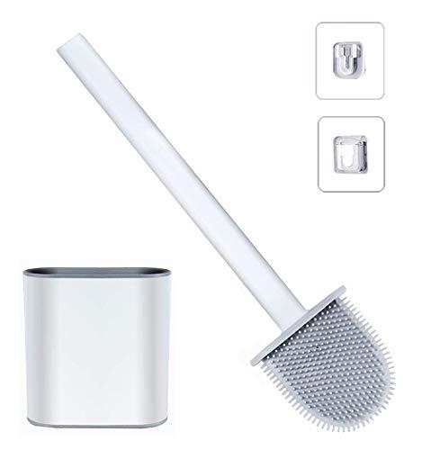 Escobilla WC Silicona - Escobilla Baño Silicona con Soporte de Secado Rápido,Escobillas WC con...