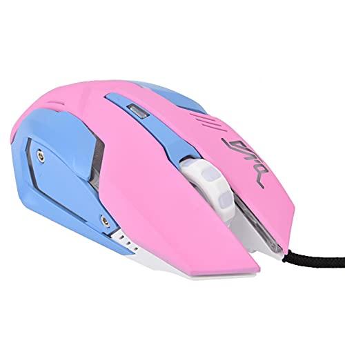 Ratón para Juegos con Cable, 3200DPI Ratón para Juegos Rosa de Alta sensibilidad Ratón óptico...