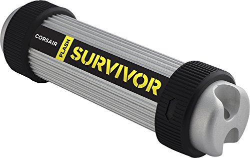 Corsair Flash Survivor v2, Unidad de Memoria Flash USB 3.0 de 32 GB (diseño Robusto, Resistente al...