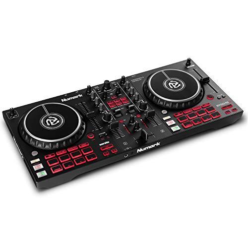 Numark Mixtrack Pro FX - Controlador DJ de 2 secciones para Serato DJ con mezclador DJ, interfaz de...