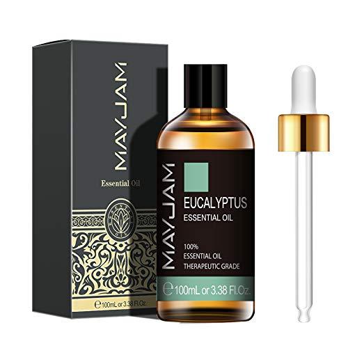 MAYJAM Aceites Esenciales de Eucalipto 100 ml, 100% Aceites Esenciales Naturales Puros, Aceite...