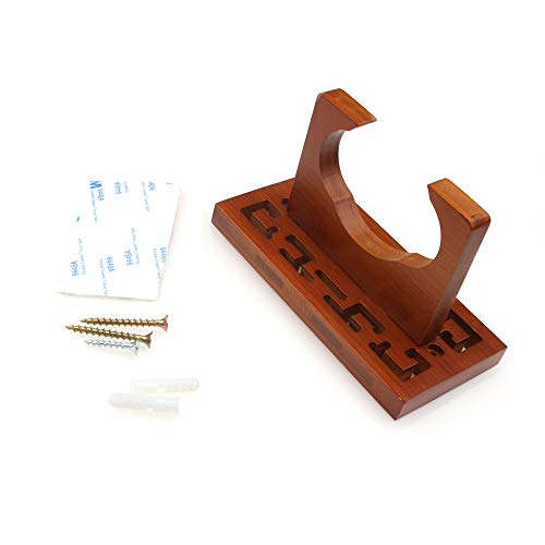 Fesjoy Flauta de cucurbitáceas de bambú Colgador de Montaje en Pared Flauta Hulusi Soporte de...