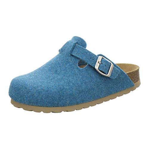 AFS-Schuhe Zapatillas de estar por casa para mujer cerradas de fieltro, cómodas, cálidas zuecos de...