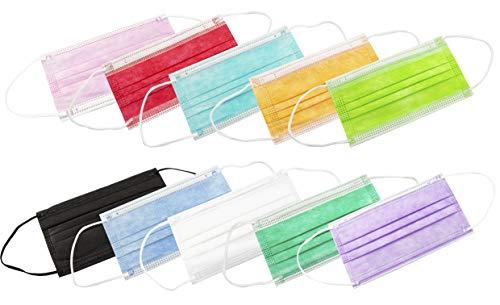 PAIDE P Mascarillas Higiénicas 3 Capas ADULTOS 20 Unidades (Mixto Colores c1)