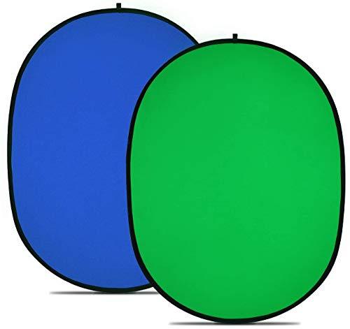 PHOTO MASTER Fondo Plegable Reversible Chromakey/Fondo Azul/Verde 100% algodón Gasa de Doble Cara...