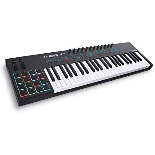 Alesis VI49 - Teclado Controlador MIDI USB de 49 Teclas con 16 Pads, 12 Mandos y 36 Botones Todos...