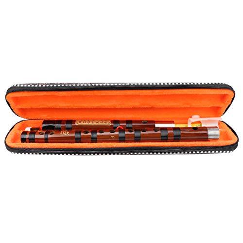 F Key Dizi Flauta de bambú chino Flauta de bambú amarga hecha a mano tradicional con estuche de...