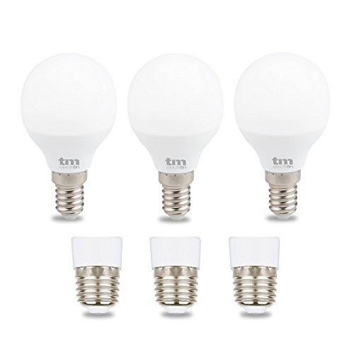 TM Electron Bombillas LED E14, 6 W, Blanco Cálido, 3 Unidades