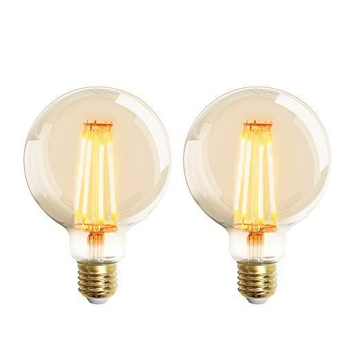 Extrastar Bombilla Edison Vintage 4W LED Retro Decorativa Bombillas Lamparas Blanco Cálido 2200K...