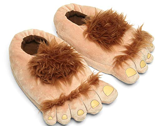 Zapatillas de Pieles Bigfoot Furry Monster para Hombre, cómodas Zapatillas de pie Hobbit cálidas...