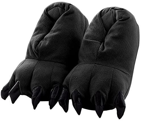 Aivtalk - Zapatilla Adulto Unisex Para Casa Zapatos de Franela Cosplay Disfraces de Garras Animales...