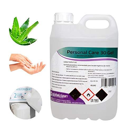 Personal Care Garrafa 5 Litros Gel Hidroalcoholico Para Manos 70% Alcohol Formato Ahorro 5000Ml....