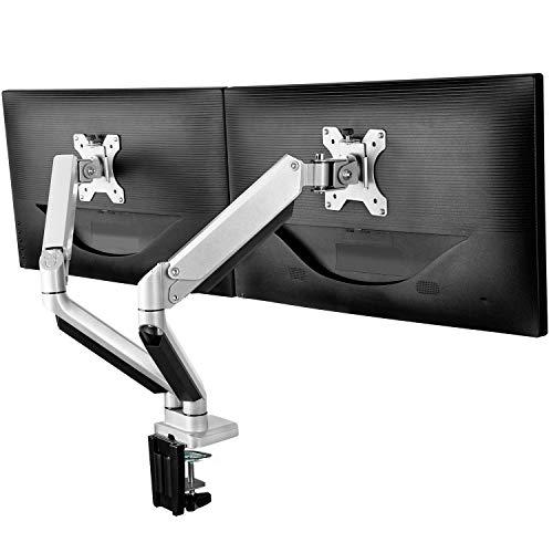 ErGear Soporte Monitor Doble para 13'-32' Monitor con Resorte de Gas Tecnología de Movimiento...