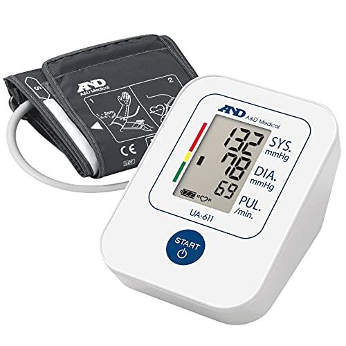 A&D Medical, Ua-611 Tensiómetro De Brazo Digital, Lecturas De Presión Arterial Rápidas, Cómodas...