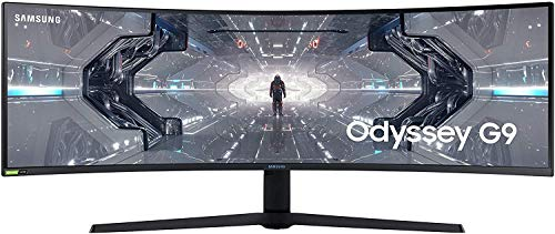 Samsung LC49G93TSSUXEN Odyssey G9 - Monitor curvo de 49'' DQHD (5120 x 1440p, 1 ms, 240 Hz, GSync,...