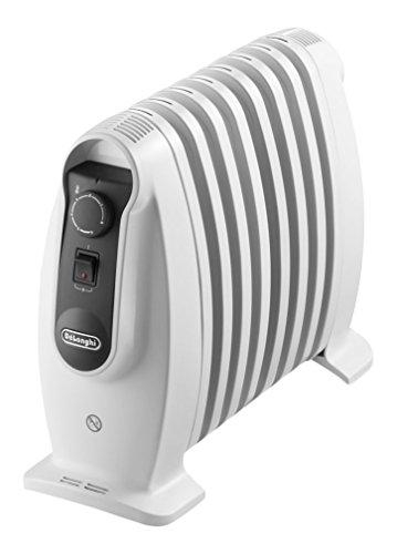 De'Longhi TRNS 0808M - Radiador 800 w, ajustes termostato, asas, protección anti heladas, Blanco,...