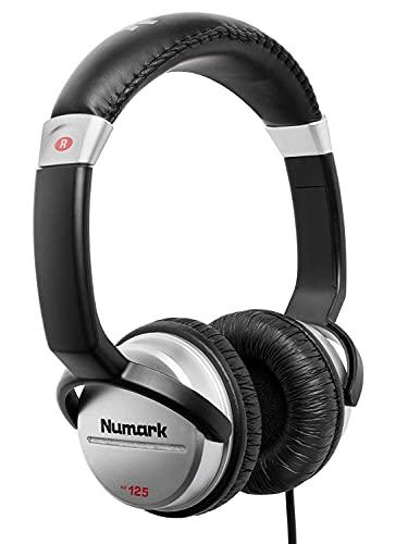 Numark HF125 - Auriculares de DJ Profesionales Ultraportátiles con Cable de 1,8 m, Transductores de...