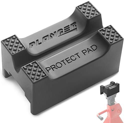 PLANGER® - Protect Pad – Bloque de Goma ranurado Universal Antideslizante para Jack Pad -...