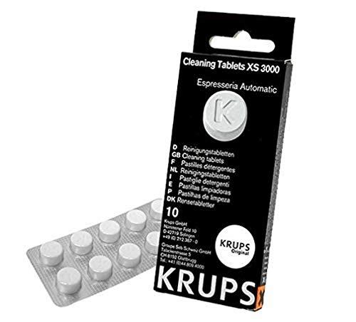 Krups XS300010 Pastillas limpiadoras para máquinas de café súper automáticas, pack de 10...