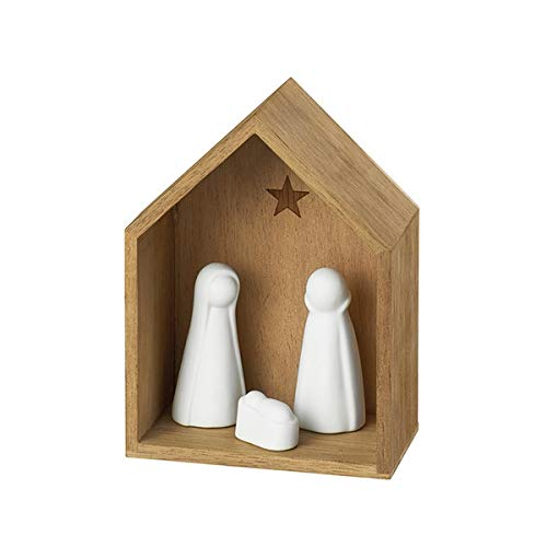 Räder 88960 Winterzeit - Belén pequeño (porcelana y madera, 5,5 x 12 x 9 cm)
