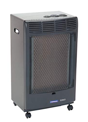 Campingaz CR5000 - Estufa de Gas Thermo Antracita, Estufa Portátil con Ruedas, Estufa Catalitica...