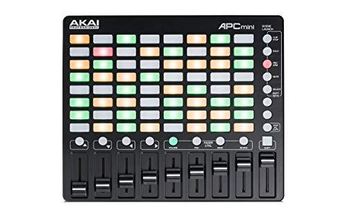 AKAI Professional APC MINI - controlador USB MIDI compacto y mezclador MIDI con disparador de clips...