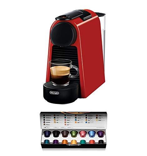 Nespresso De'Longhi Essenza Mini EN85.R - Cafetera monodosis de cápsulas Nespresso, compacta, 19...