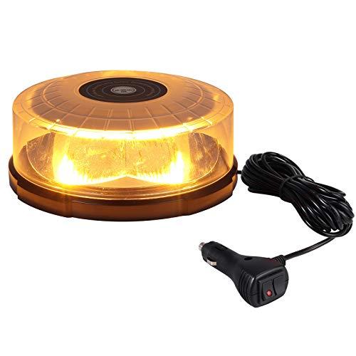 60W LED Rotativo Luz Emergencia Advertencia Estrocopocbica Coche Baliza de Señalación 27 Modos...
