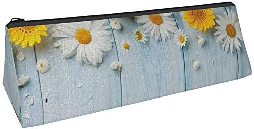 Bolsa de lápices con diseño de margaritas de primavera, elegante estuche de lápices de impresión...