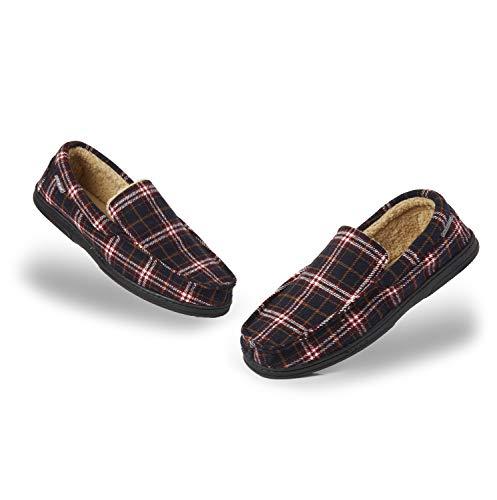 Dunlop Zapatillas Casa Hombre | Pantuflas Estilo Mocasines Cerradas | Zapatillas de Casa Invierno...