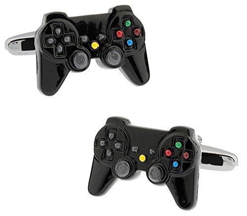 Juegos negros de la consola del controlador Gemelos en una caja de presentación de lujo. Juegos de...