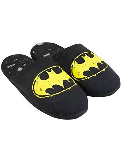 DC Comics Batman Logo - Zapatillas Negras de poliéster para Hombre