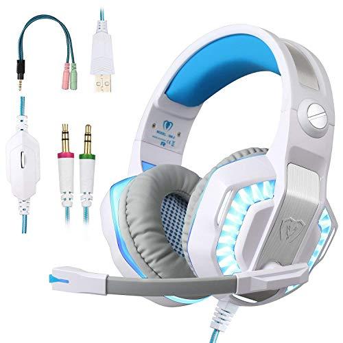 BlueFire Auriculares Gaming PS4, 3.5mm Cancelación De Ruido Cascos Gaming, Juego Auriculares con...
