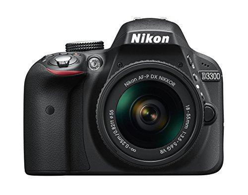 Nikon D3300 + 18-55 AFP DX VR - Cámara réflex digital de 24,2 Mp (pantalla LCD 3', estabilizador,...