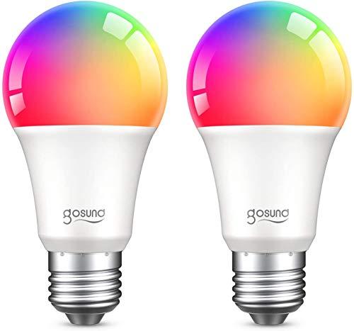 Gosund Bombilla Led Inteligente E27 8W 800LM Lámpara Regulable, Bombillas WiFi Luces Cálidas & RGB...