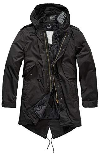 Brandit M51 Parka Hombre Parka Negro S, 73% algodón, 27% nilon,