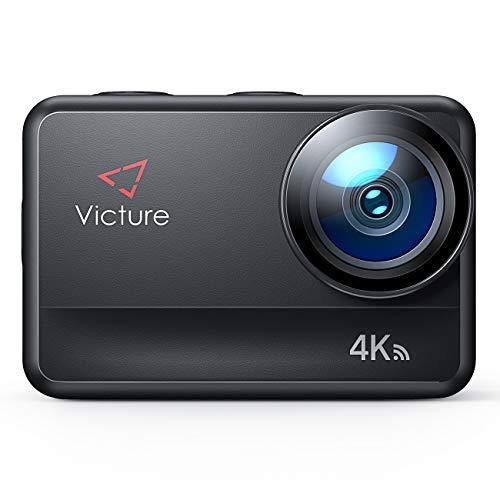 Victure AC940 Cámara Deportiva 4K/60FPS 20MP Wi-Fi (Pantalla Táctil EIS Camara Sumergible hasta 5M...