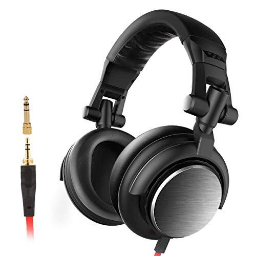 AERJMA Auriculares de reducción de ruido, subwoofer, orejeras plegables, auriculares DJ, adecuados...