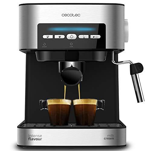 Cecotec Power Espresso 20 Matic Cafetera, Presión 20 Bares, 1,5L, Brazo Doble Salida, Vaporizador,...